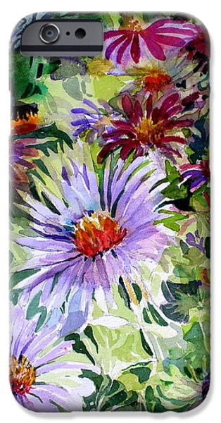 Nature Abstract iPhone Cases - Daisy Garden iPhone Case by Mindy Newman