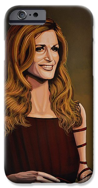 Disc iPhone Cases - Dalida iPhone Case by Paul Meijering