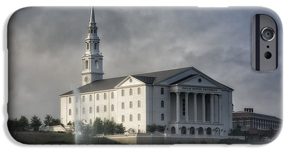 Morning iPhone Cases - Dallas Baptist University iPhone Case by Joan Carroll
