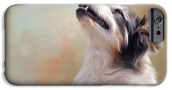 Canine Framed Prints Digital Art iPhone Cases - Dallas iPhone Case by Sandy Oman