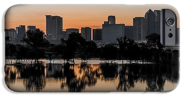 City Scape iPhone Cases - Dallas Sunrise  iPhone Case by Art K