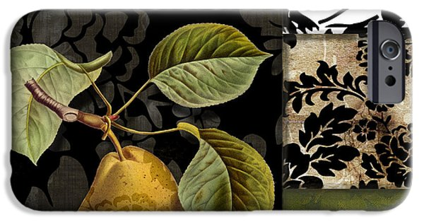 Pears iPhone Cases - Damask Lerain iPhone Case by Mindy Sommers