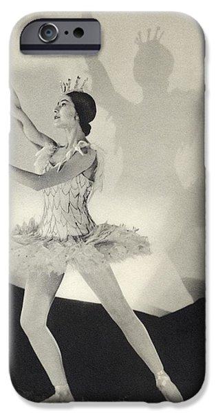 Ballet Dancers iPhone Cases - Dame Margot Fonteyn De Arias 1919 iPhone Case by Ken Welsh