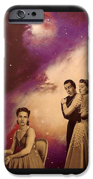 1950s Portraits iPhone Cases - Dance Card  iPhone Case by Jayne Surrena