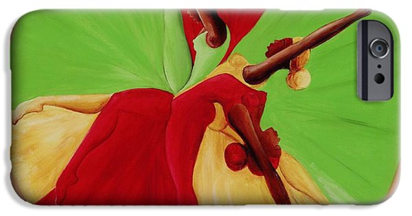 Ballet Dancers iPhone Cases - Dance Circle iPhone Case by Ikahl Beckford