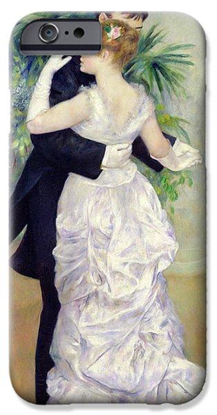 Renoir iPhone Cases - Dance in the City iPhone Case by Pierre Auguste Renoir