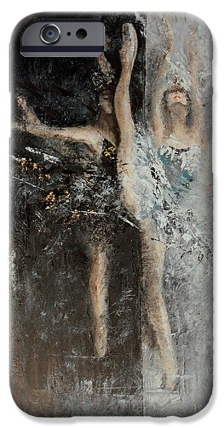 Swans... iPhone Cases - Dance of Conscience iPhone Case by Anita Lewis