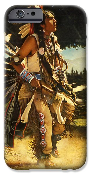 Native-american iPhone Cases - Dance of His Fathers iPhone Case by Greg Olsen
