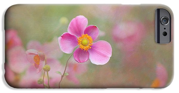 Concept Art iPhone Cases - Dance of the Windflower iPhone Case by Kim Hojnacki