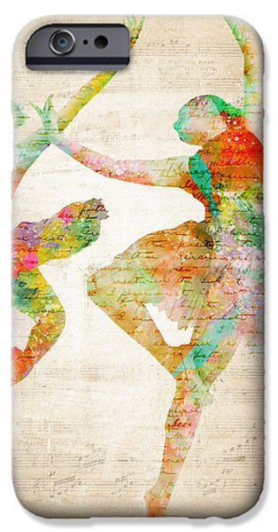 Best Sellers -  - Ballet Dancers iPhone Cases - Dance With Me iPhone Case by Nikki Smith