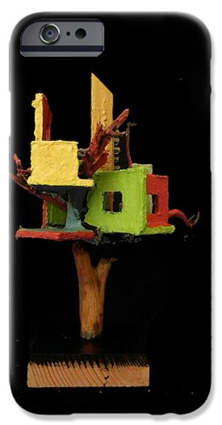 House Sculptures iPhone Cases - Dancer #1 iPhone Case by Caleb Rogers