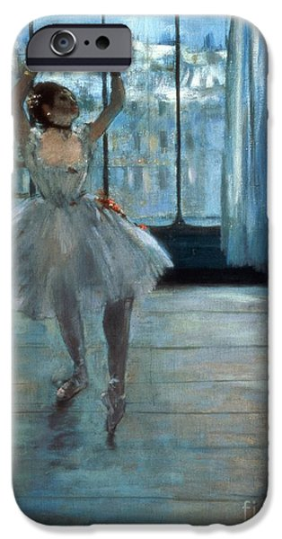 Photo Paintings iPhone Cases - Dancer in Front of a Window iPhone Case by Edgar Degas