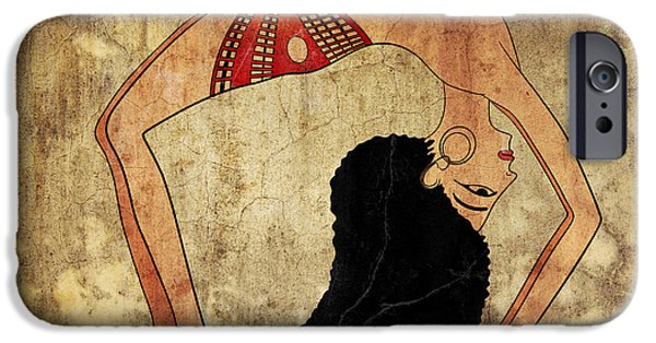 Ballerina Artwork iPhone Cases - dancer of Ancient Egypt iPhone Case by Michal Boubin