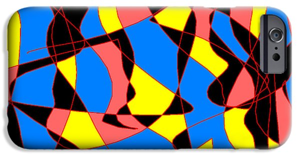 Modernart iPhone Cases - Dancer iPhone Case by Sasha Alaily