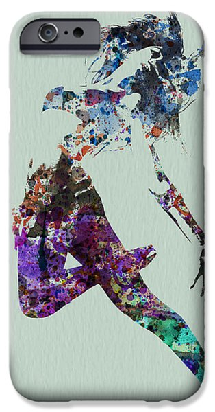 Relationship Paintings iPhone Cases - Dancer watercolor iPhone Case by Naxart Studio