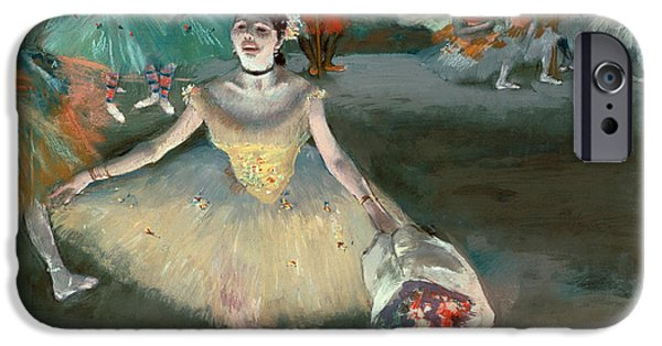 Ballet Dancers iPhone Cases - Dancer with Bouquet iPhone Case by Edgar Degas