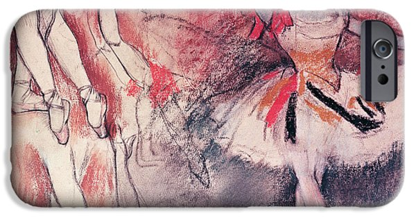 Degas iPhone Cases - Dancer with Tambourine or Spanish Dancer iPhone Case by Edgar Degas