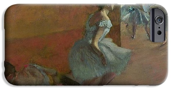 Ballet Dancers iPhone Cases - Dancers Ascending a Staircase iPhone Case by Edgar Degas