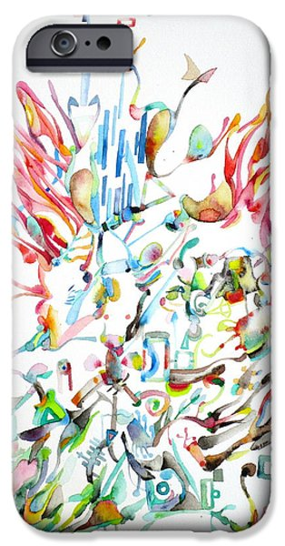 Paiting iPhone Cases - Dancing Crowd iPhone Case by Fabrizio Cassetta