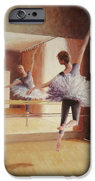 Ballet Dancers iPhone Cases - Dancing in the light iPhone Case by Anna Starkova