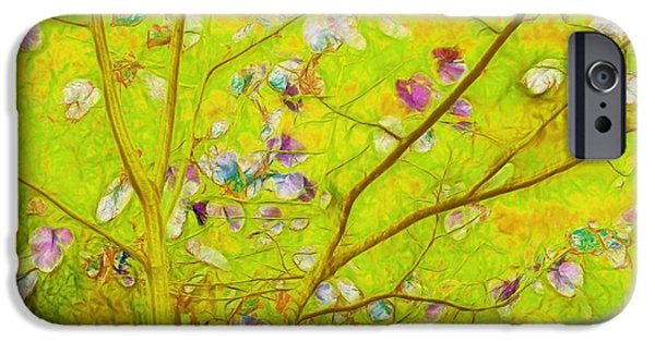 Lime iPhone Cases - Dancing in the Wind 01 - 343 iPhone Case by Variance Collections