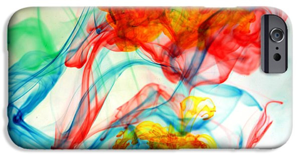 Cut-outs iPhone Cases - Dancing In Water iPhone Case by Michael Ledray