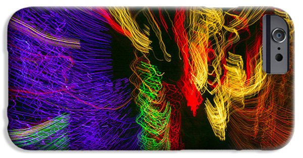 Power iPhone Cases - Dancing Lights 3 iPhone Case by Penny Lisowski