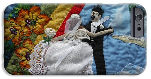 Couple Tapestries - Textiles iPhone Cases - Dancing on a Cloud. iPhone Case by Shirley Goss