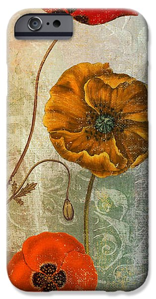 California Poppies iPhone Cases - Dancing Poppies II iPhone Case by Mindy Sommers