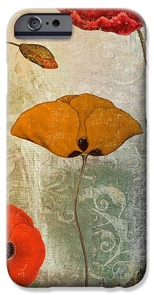 California Poppies iPhone Cases - Dancing Poppies III iPhone Case by Mindy Sommers