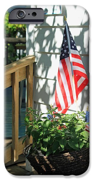 Recently Sold -  - Fourth Of July iPhone Cases - Dancing Shadows iPhone Case by Suzanne Gaff
