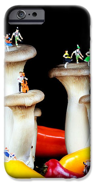 Dancing show on mushroom iPhone Case by Paul Ge