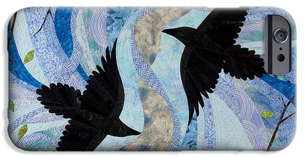Animal Tapestries - Textiles iPhone Cases - Dancing With the Chinook iPhone Case by Linda Beach