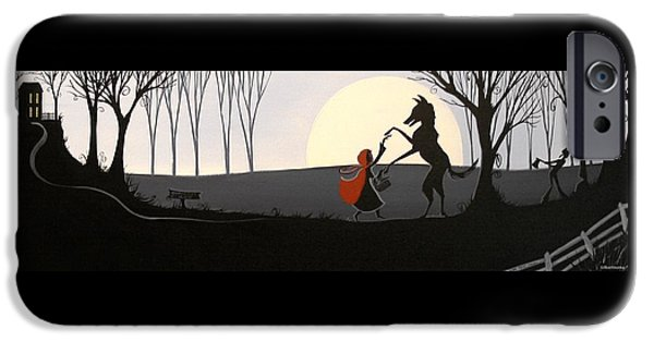Little Girl iPhone Cases - Dancing With The Wolf iPhone Case by Debbie Criswell
