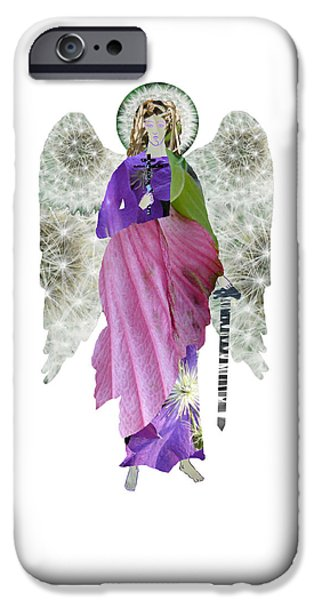 Michael Mixed Media iPhone Cases - Dandelion Angel iPhone Case by Joanna Whitney