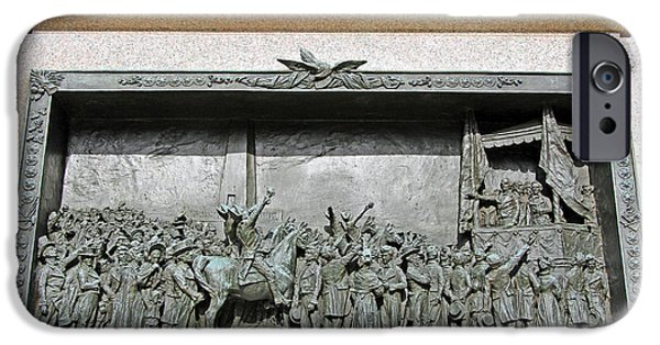 Cora Wandel iPhone Cases - Daniel Webster Dedicating The Bunker Hill Monument   iPhone Case by Cora Wandel
