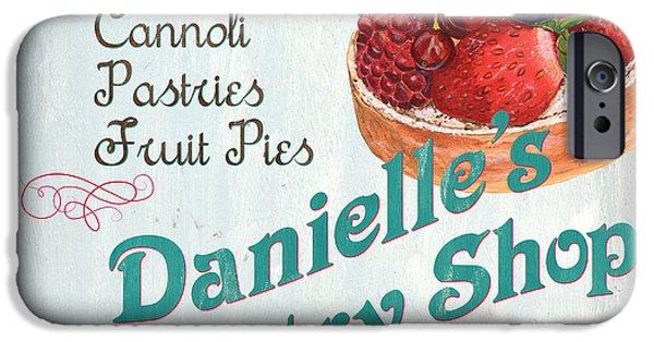 Food Stores iPhone Cases - Danielles Pastry Shop iPhone Case by Debbie DeWitt