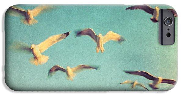 Poetic iPhone Cases - Dans Avec Les Oiseaux iPhone Case by Taylan Soyturk