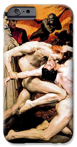 Inferno iPhone Cases - Dante and Virgil in Hell iPhone Case by The  Vault - Jennifer Rondinelli Reilly