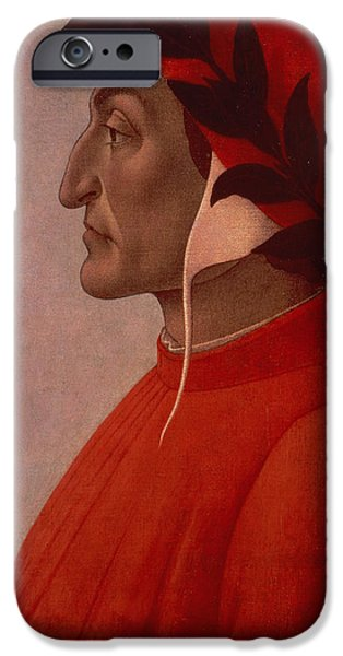 Inferno iPhone Cases - Dante iPhone Case by Sandro Botticelli