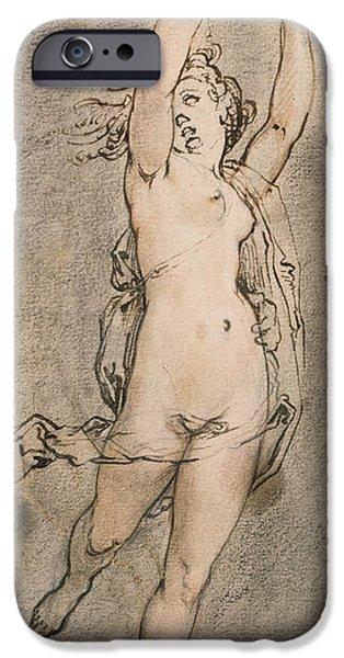 Erotic Dancer iPhone Cases - Daphne iPhone Case by Hendrik Goltzius