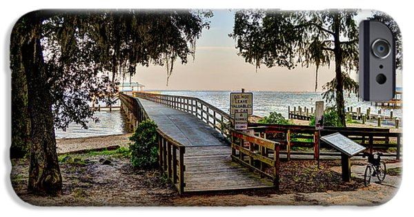 Michael iPhone Cases - Daphne Water Front Park iPhone Case by Michael Thomas