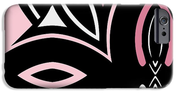 """geometric Art"" iPhone Cases - Daring Deco IV iPhone Case by Mindy Sommers"