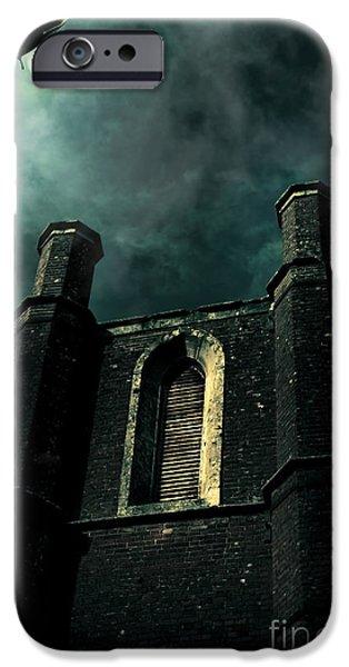 Sombre iPhone Cases - Dark Castle iPhone Case by Ryan Jorgensen