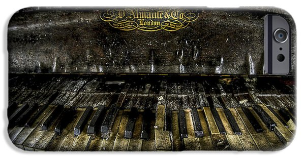 Piano iPhone Cases - Dark Music iPhone Case by Brian Murphy