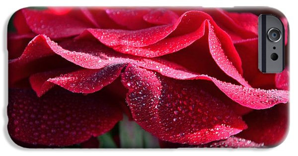 Raining iPhone Cases - Dark Red iPhone Case by Elmar Langle