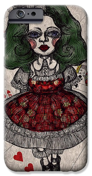 Alice In Wonderland iPhone Cases - Darkness Trump iPhone Case by Akiko Kobayashi