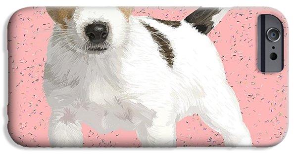 Puppy Digital iPhone Cases - Darla iPhone Case by Tam Hazlewood