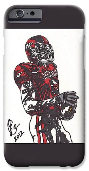 Arkansas Drawings iPhone Cases - Darren McFadden 3 iPhone Case by Jeremiah Colley