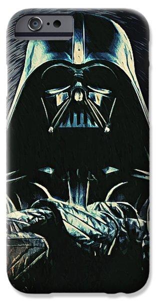 Epic Digital Art iPhone Cases - Darth Vader iPhone Case by Taylan Soyturk